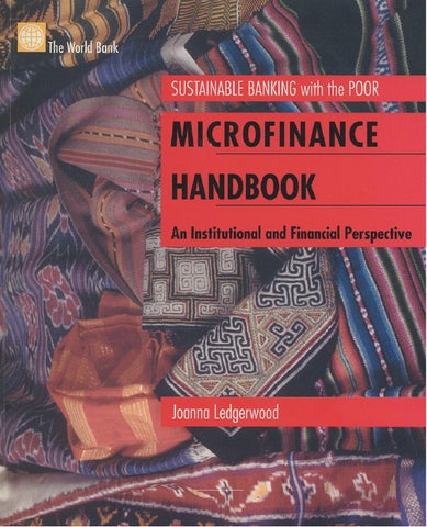 microfinance handbook an institutional and financial perspective by