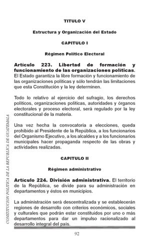 Constitucion De Guatemala By Sergio Martin Issuu