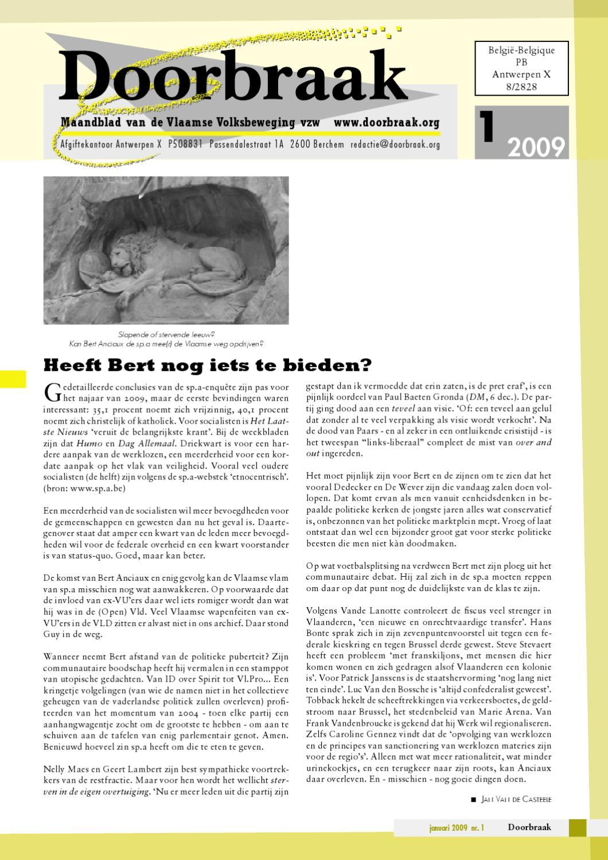 200901doorbraak By Vlaamse Volksbeweging Vzw Issuu