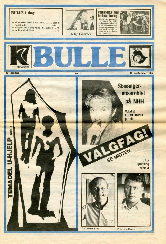9c139f06 K7 Bulletin nr 03 - høsten 1985 by NHH Alumni - issuu