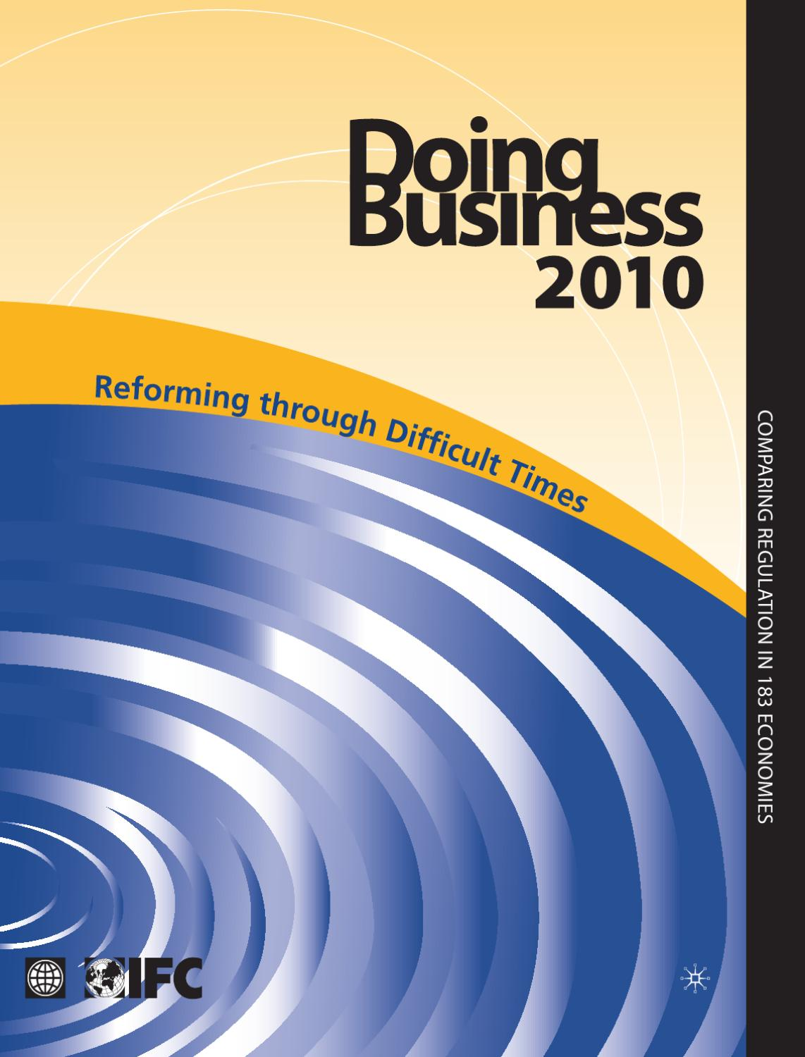 Doing Business 2010 by World Bank Publications - issuu