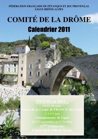 Calendrier Petanque Drome 2022 calendrier 2011 cd26 Drôme concours officiel de pétanque by
