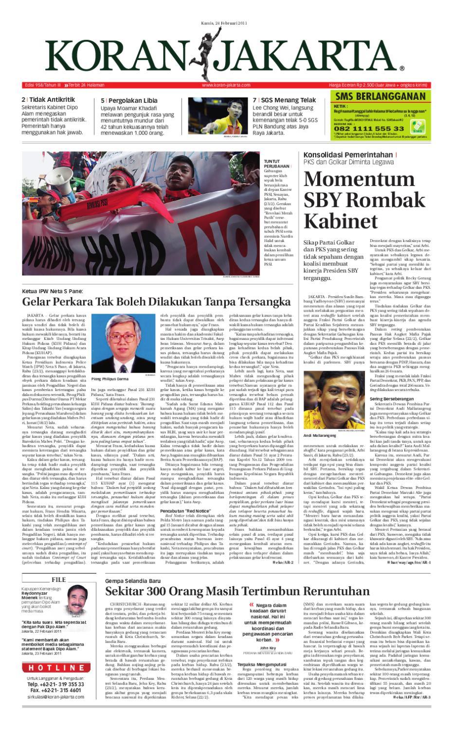 Edisi 958 24 Februari 2011 By Pt Berita Nusantara Issuu Krezi Kamis 25  Karpet Pp Rug 100x150 Ter Free Ongkir