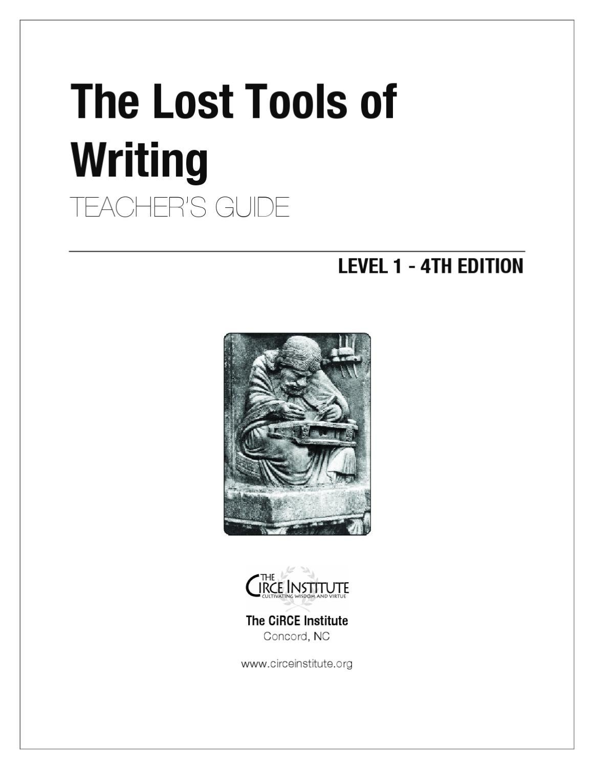 Lost Tools of Writing - Level 1 - Demo by CiRCE Institute - issuu