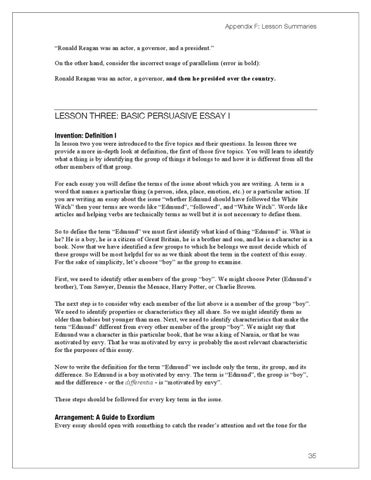Lost tools of writing level 1 demo by circe institute issuu page 45 appendix f lesson summaries ronald reagan was an actor a governor and a president on the other hand consider the incorrect usage of sciox Gallery