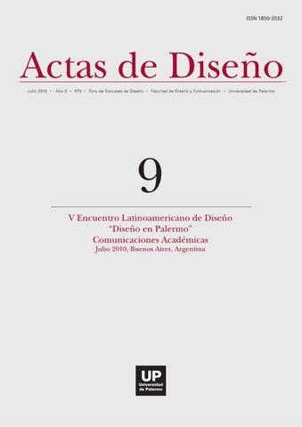 2da56c5dd Actas de Diseño Facultad de Diseño y Comunicación. Universidad de Palermo.  Mario Bravo 1050. C1175ABT. Ciudad Autónoma de Buenos Aires. ...