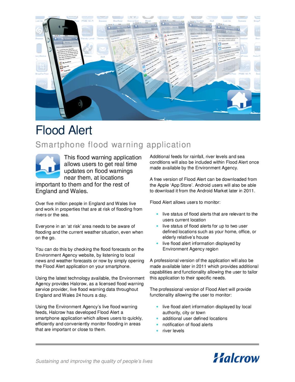 Flood Alert by Halcrow - issuu