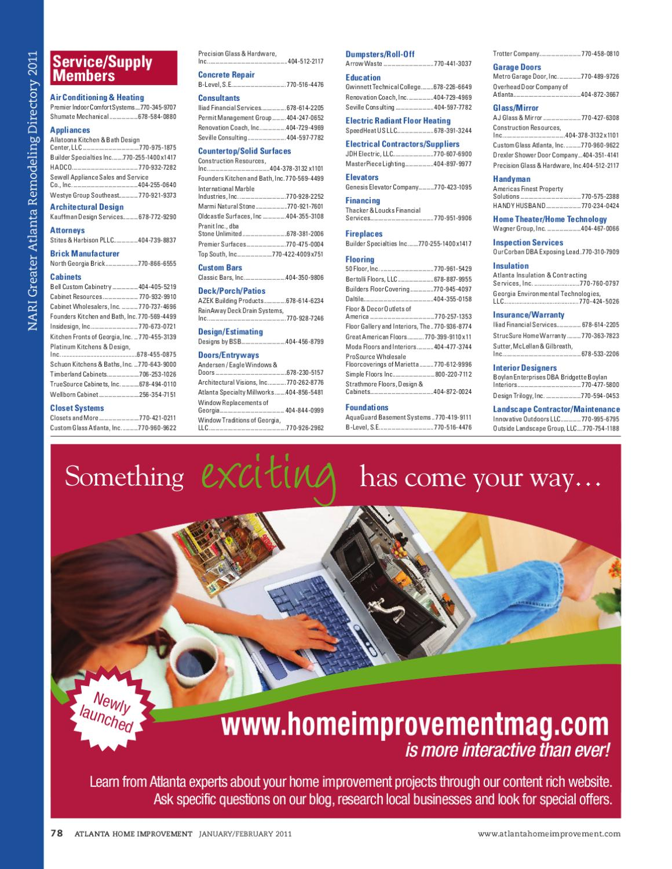 Atlanta Home Improvement Jan Feb 2017