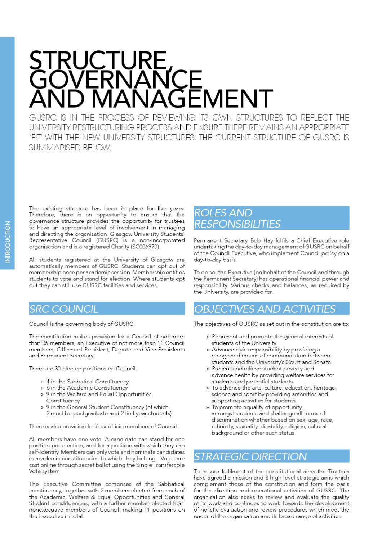 SRC Annual Report by Glasgow University Students' Representative