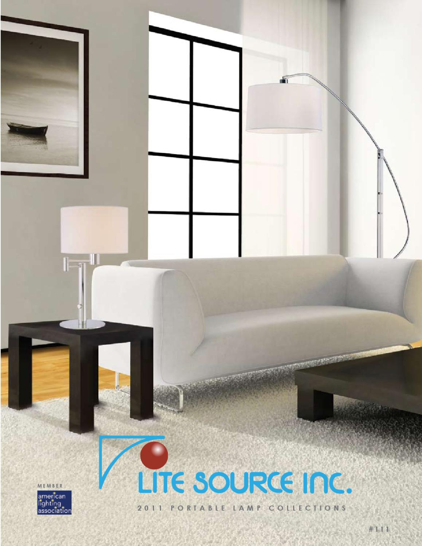 Lite Source LS-2255ALU Sophia Table Lamp Metallic 13.5 x 10 x 5.5 Lite Source Inc 13.5 x 10 x 5.5 Chrome with Aluminum Shade And Clear Glass