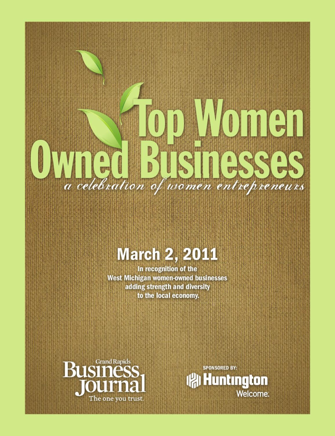 Top Women Owned Businesses - 2011 by Grand Rapids Business Journal ...