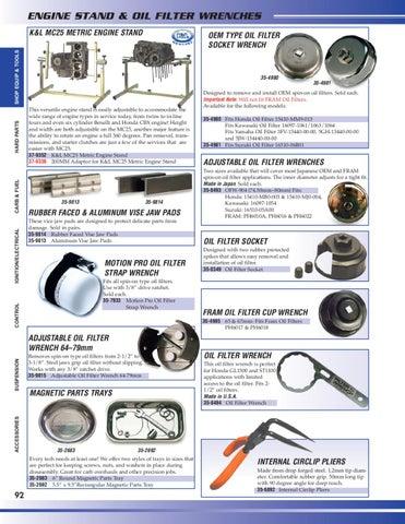 K /& L Adjustable Oil Filter Wrench 35-9815