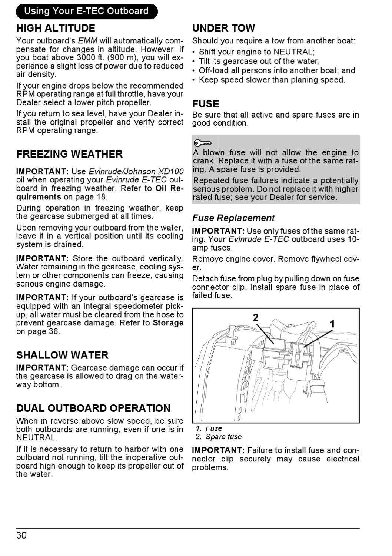2007 - EVINRUDE E-Tec 115 - 200hp Operator Guide - 215770E