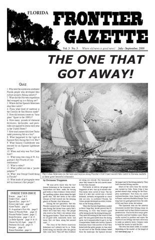 Florida Frontier Gazette Vol 3 No 3 by Florida Frontier