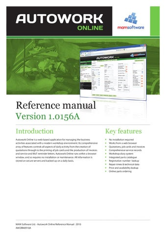 Autowork online reference manual by gareth flower issuu page 1 spiritdancerdesigns Gallery