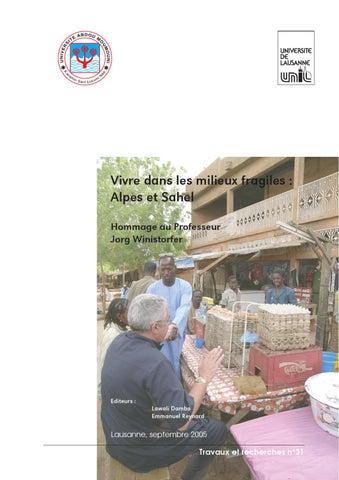 Vivre dans les milieux fragiles   Alpes et Sahel. by Institut de ... d1d8aa3369b