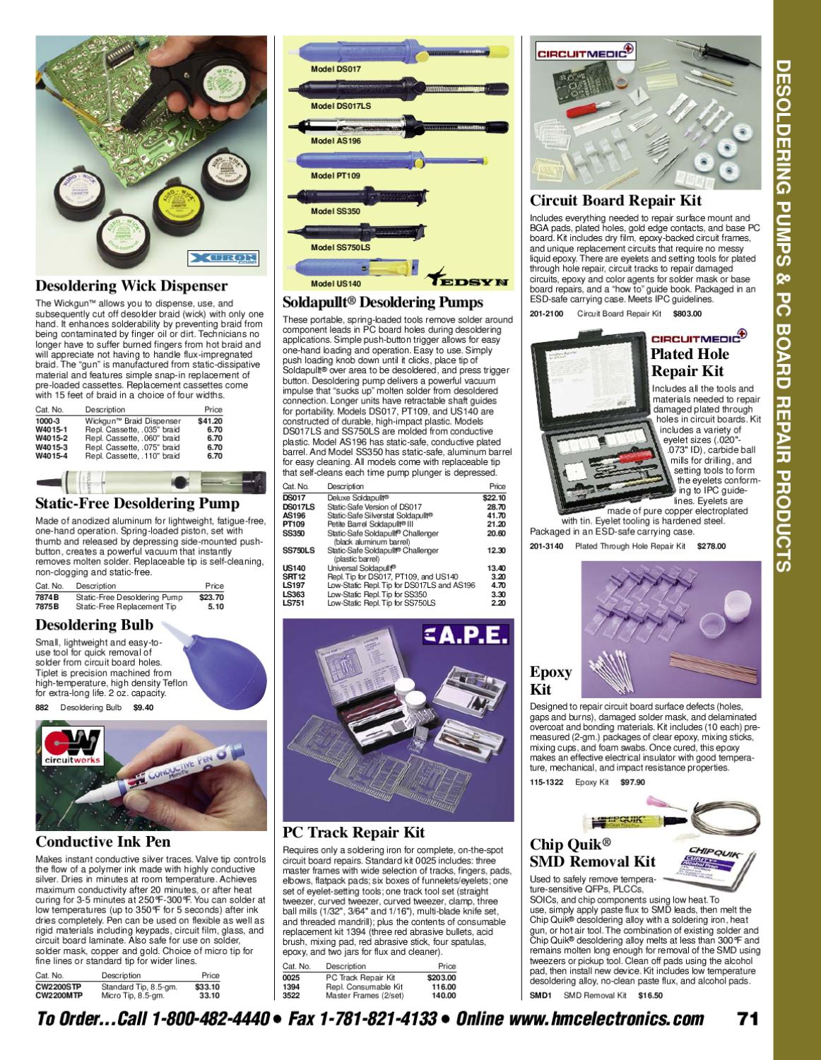 Hmc Electronics Product Catalog By Jon Schwartz Issuu Professional Circuit Board Repair Kit In Esdsafe Case Tool Kits