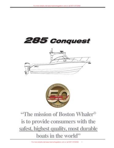 Boston Whaler - 285 Conquest
