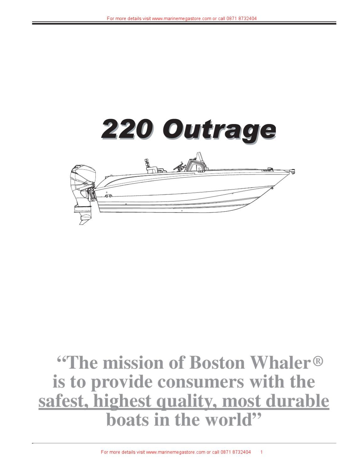 Boston Whaler 220 Outrage By Marine Mega Store Ltd Issuu Wiring Harness