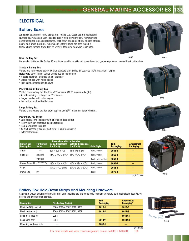"Attwood Battery Box Strap Medium with Hardware 38/"" #9013-1"