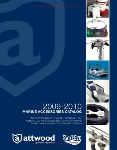 Attwood 2009 2010 Marine Accessories Catalog By Marine Mega Store