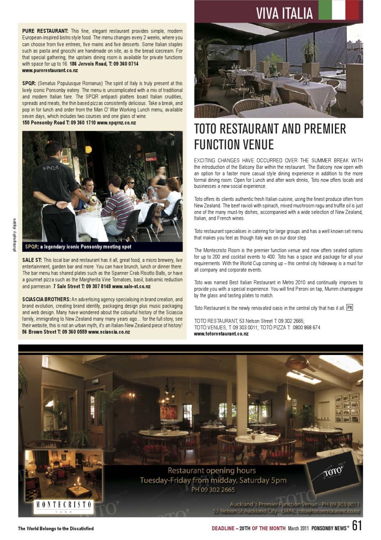 MARCH '11 Ponsonby News by Ponsonby News - issuu