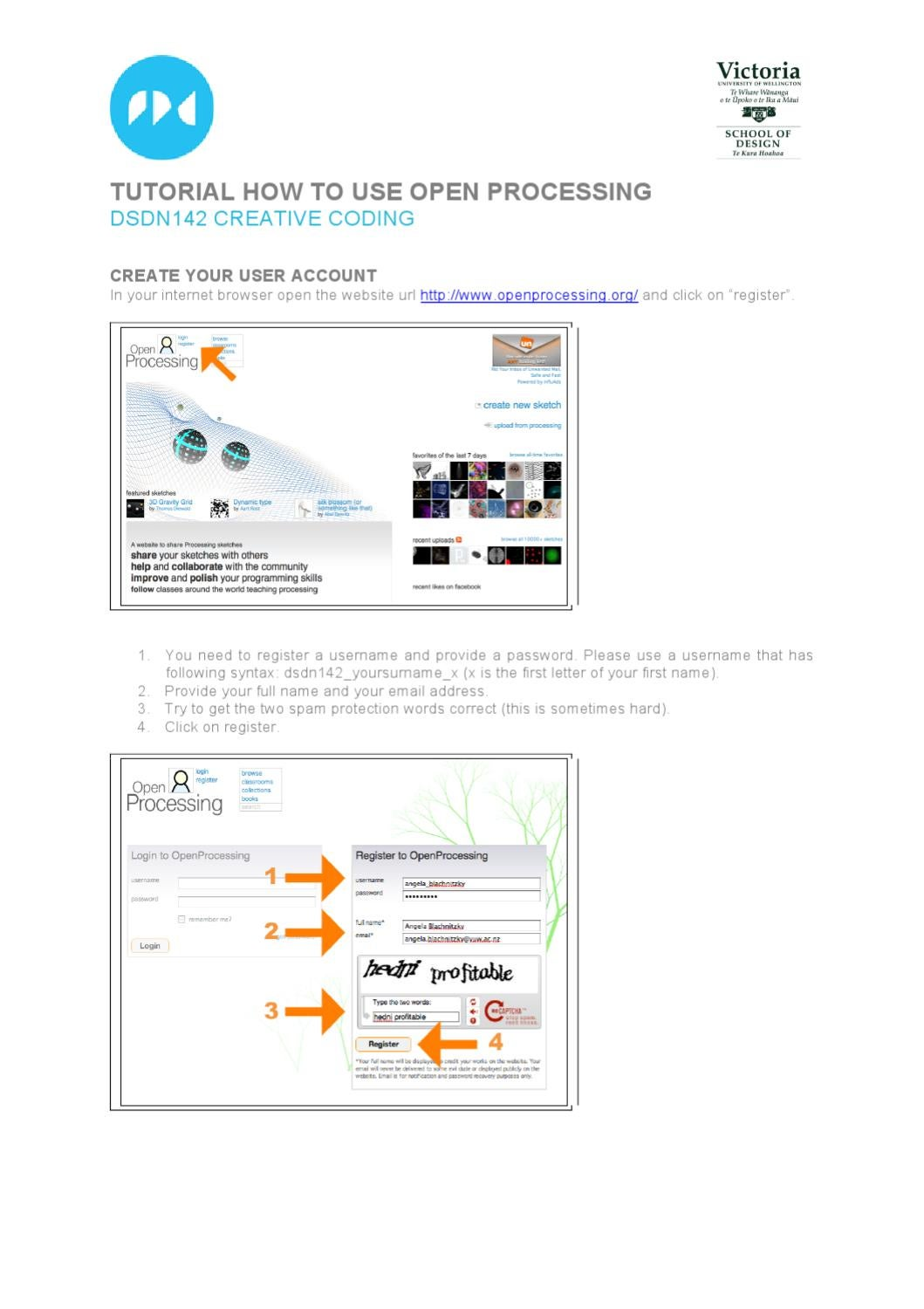 How to use the OpenProcessing site by Angela Blachnitzky - issuu
