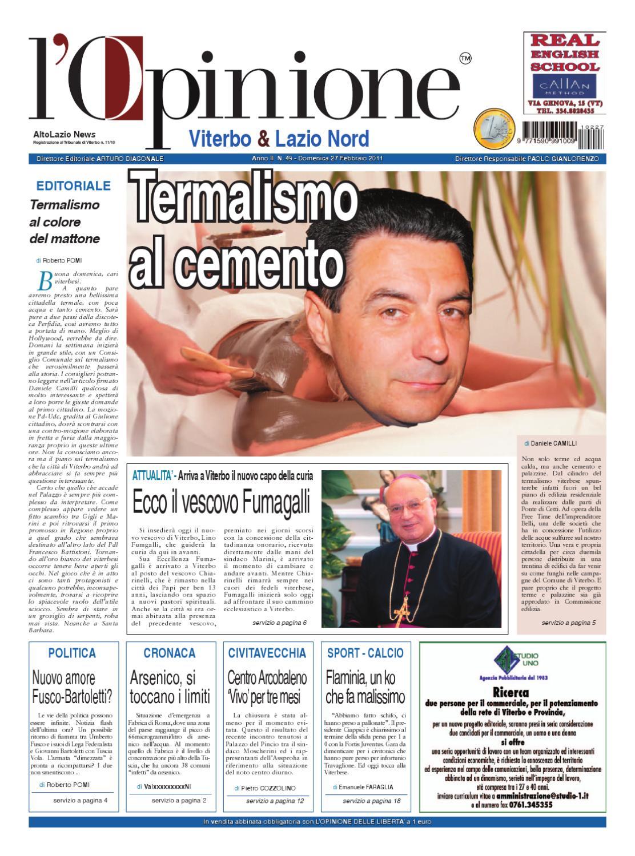 L Opinione di Viterbo e Lazio nord - 27 febbraio 2011 by Nuovo Viterbo Oggi  - issuu 334563471c9a