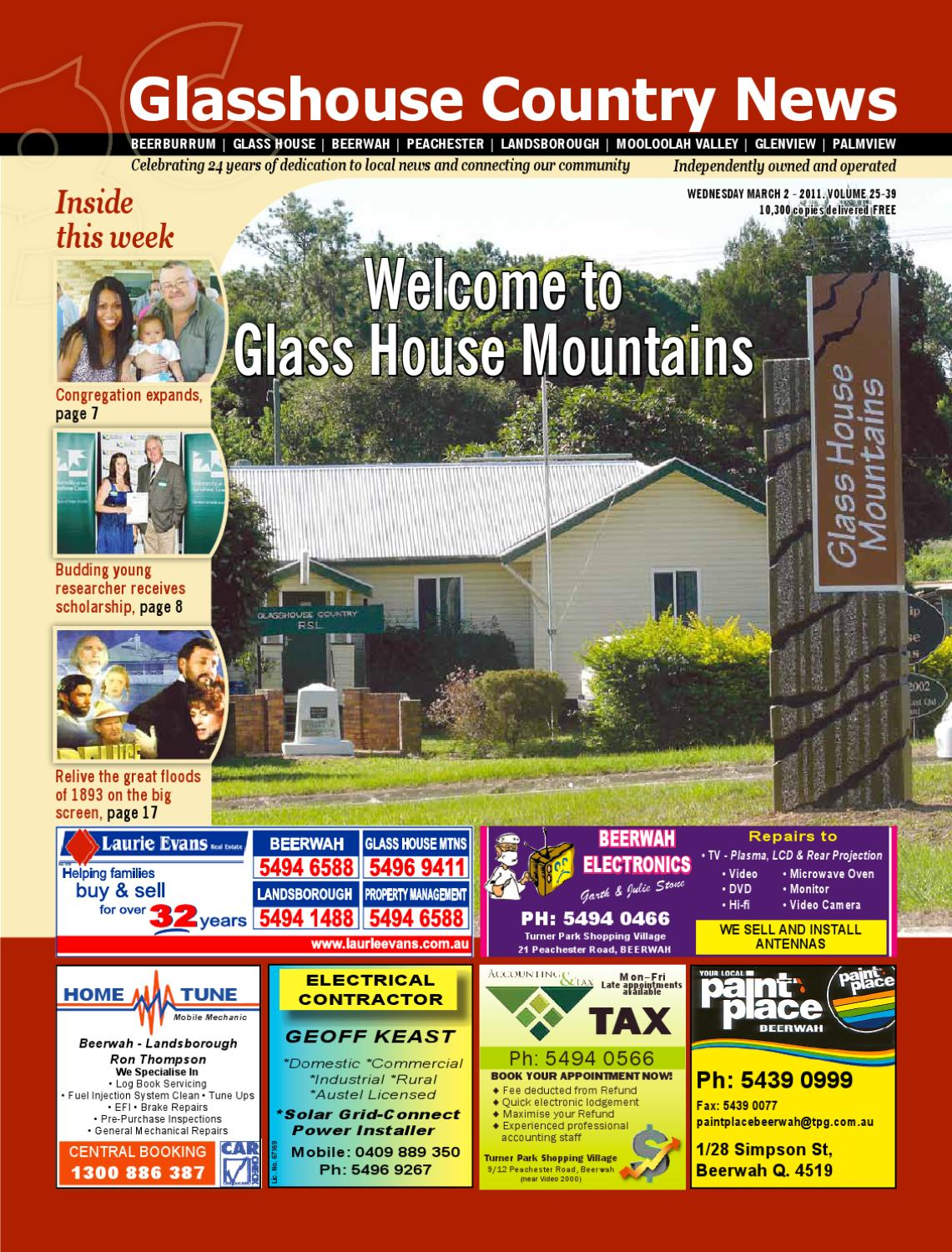 2 March 2011 Edition By Glasshouse Country Amp Maleny News