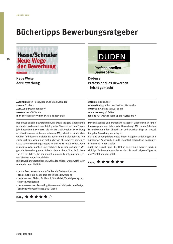 Jobguide Careerstep Bewerbungsratgeber 2011 By Universum