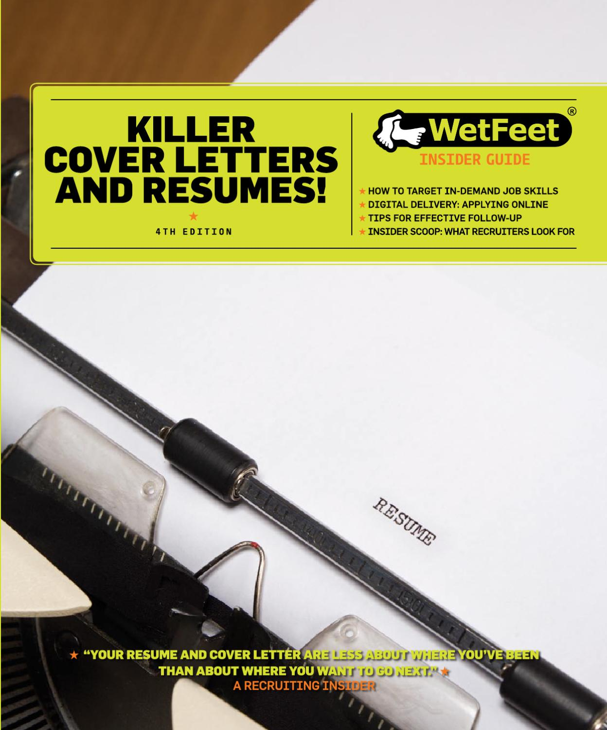 Killer Cover Letters And Resumes by Universum - issuu
