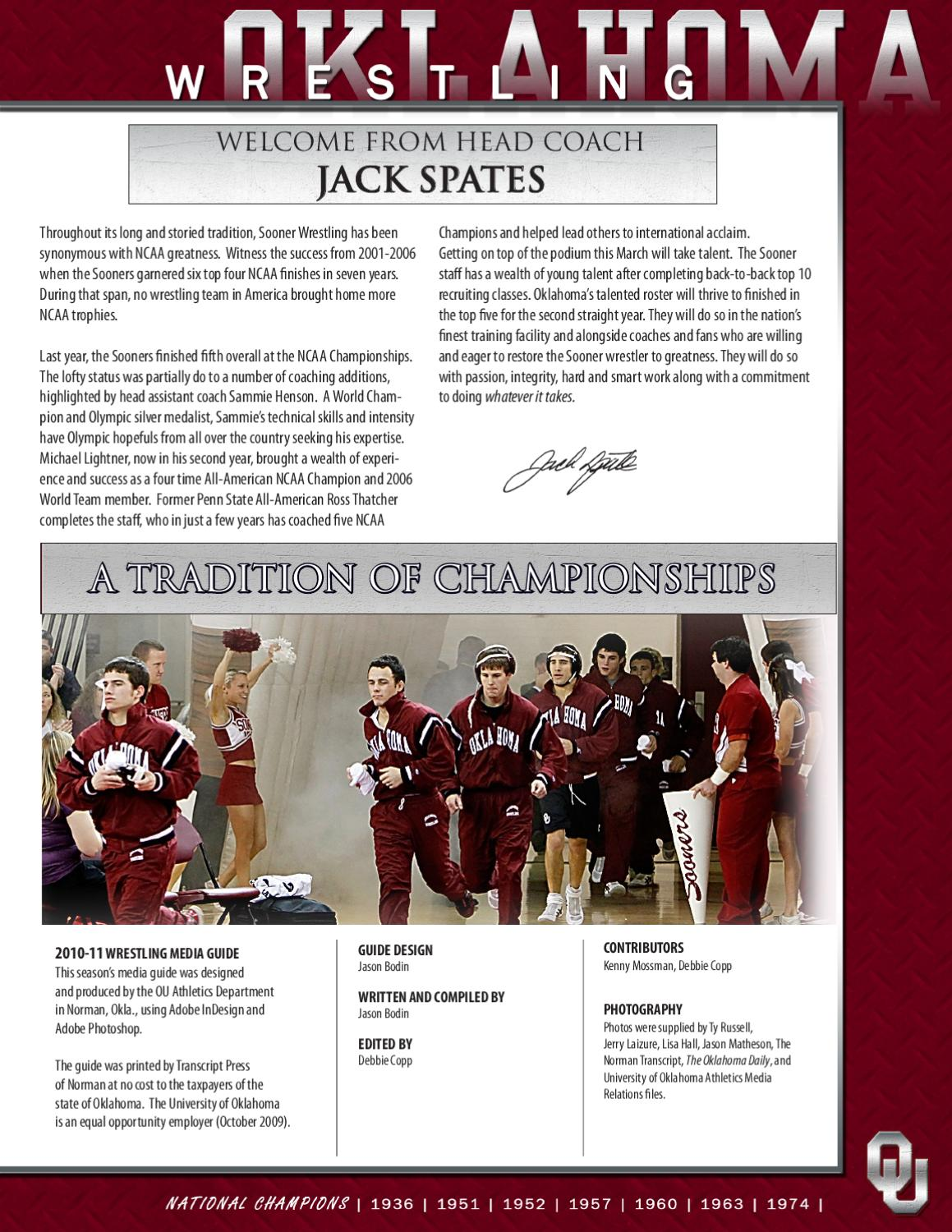 2010 11 ou wrestling media guide by ou athletics issuu  buster and billie 1974 adobe.php #13