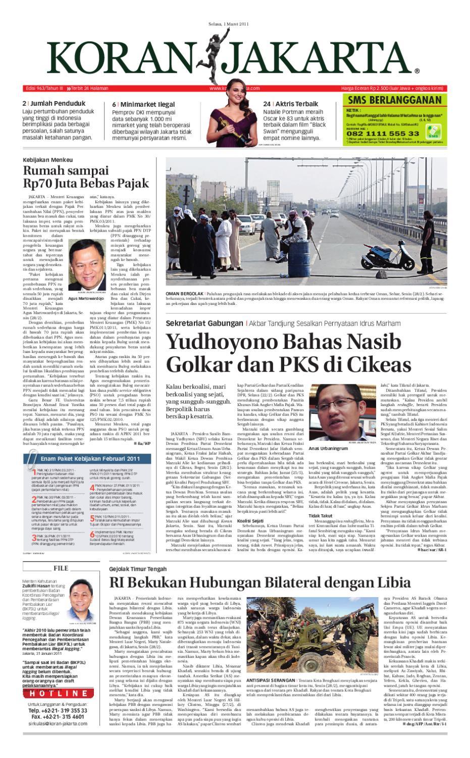 Edisi 963 1 Maret 2011 By Pt Berita Nusantara Issuu Mesin Untuk Membungkus Makanan Hand Wrapping Sat Hw450starpack