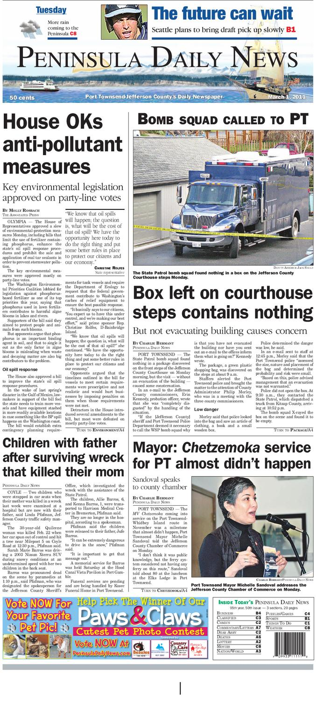 PDN 03012011 J by Peninsula Daily News & Sequim Gazette