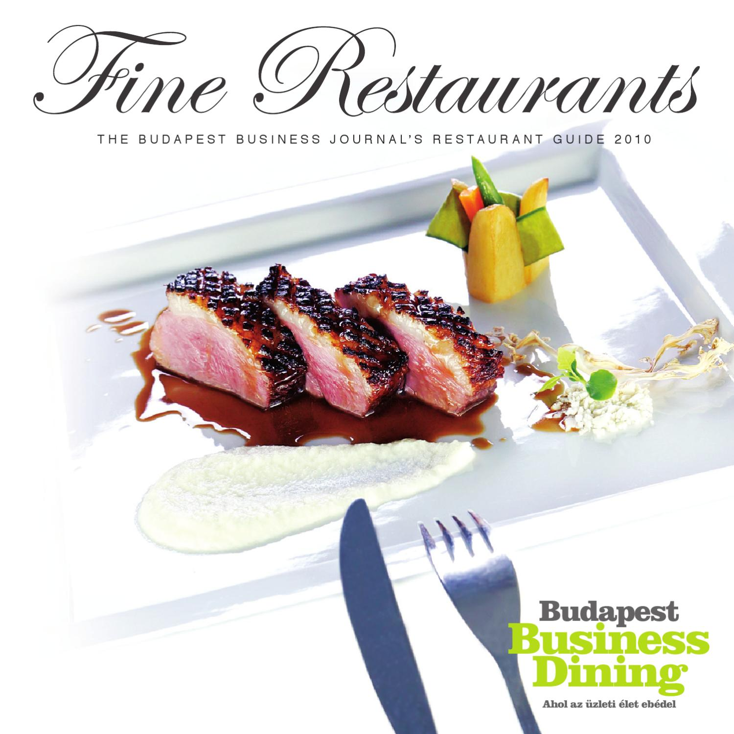 Fine Restaurants 2010 by Business Publishing Services Kft. - issuu 1c6b11ac60