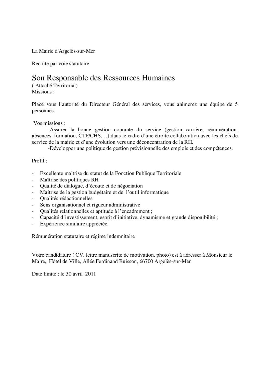 responsable des ressources humaines by argel u00e8s-sur-mer