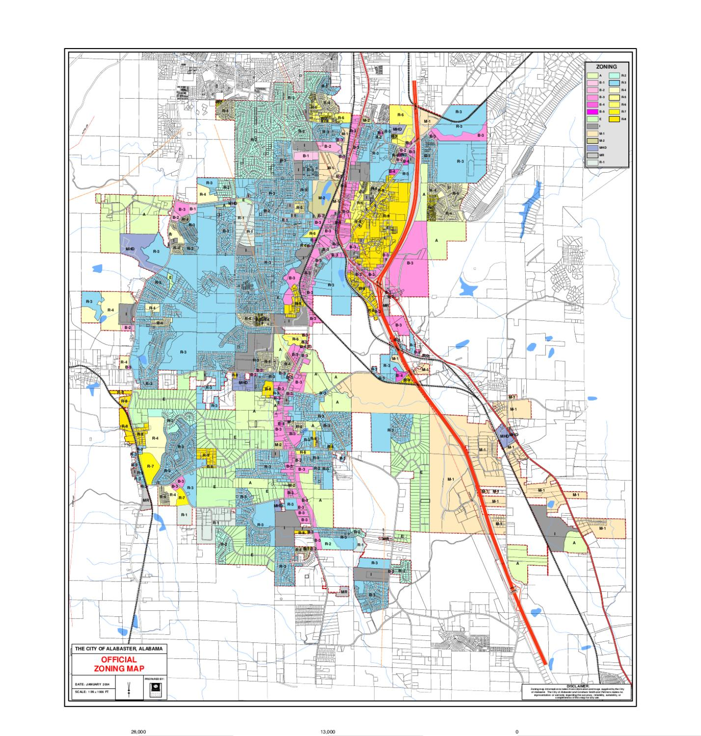 zoning20map by city of alabaster issuu