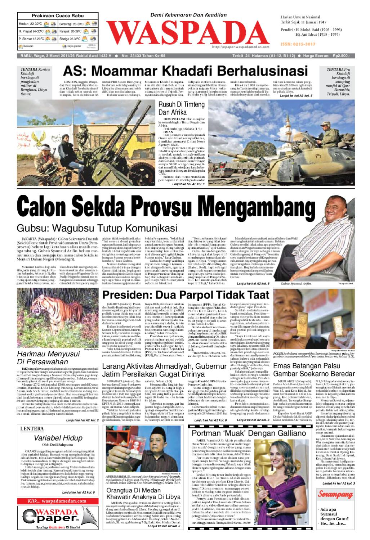Waspada Rabu 2 Maret 2011 By Harian Issuu Produk Ukm Bumn Tenun Pagatan Kemeja Pria Biru Kapal