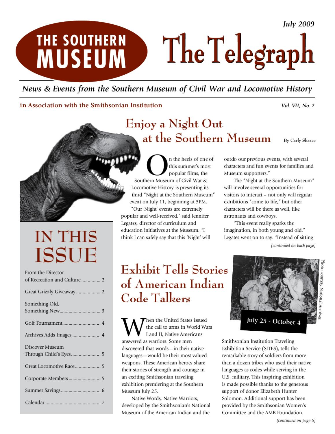 The Southern Museum Telegraph - July 2009 by Southern ...