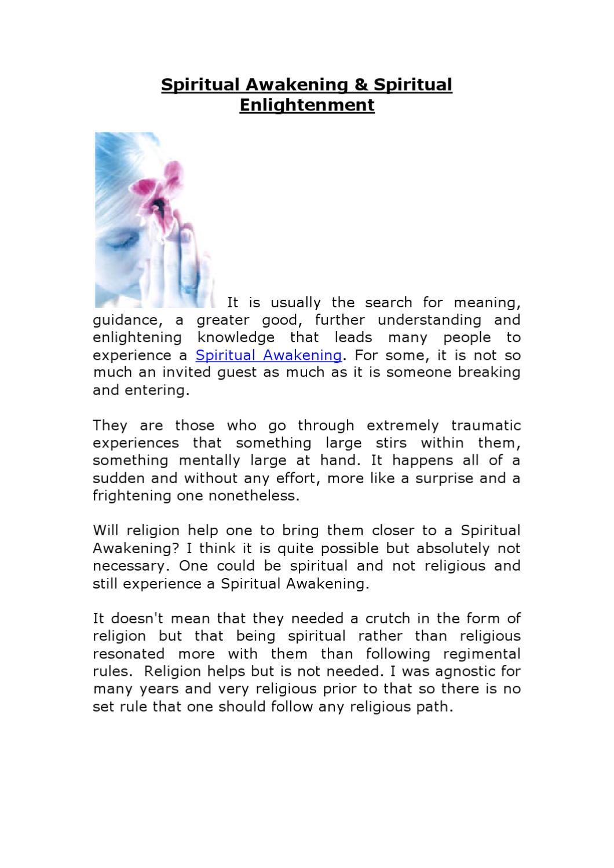 Spiritual Awakening & Spiritual Enlightenment by WILD SWAN
