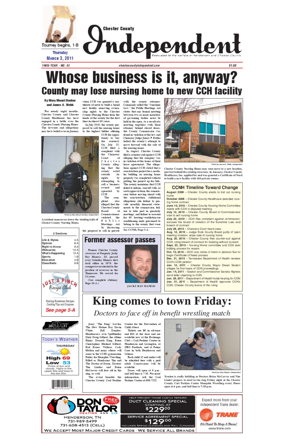Tennessee chester county enville - Chester County Independent 03 03 11 By Chester County Independent Issuu