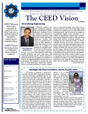 CEED Newsletter Fall 2010 by UCLA Center for Excellence in