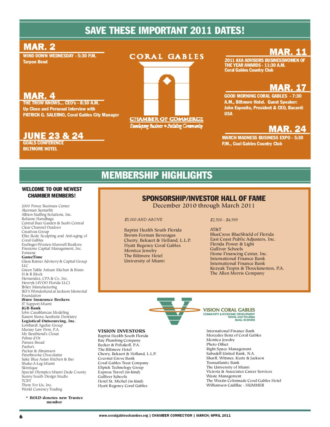 MARCH-APRIL by Coral Gables Chamber of Commerce - issuu
