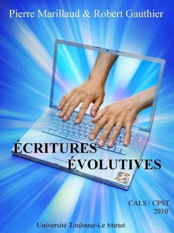 ECRITURES EVOLUTIVES by Robert gauthier - issuu e708b550d8f2