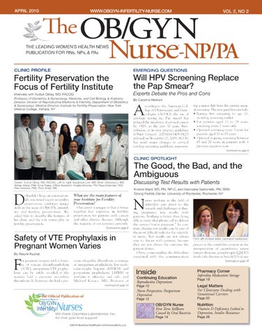 Arpil 2010 Vol 2, No 2 by Novellus Healthcare Communications, LLC