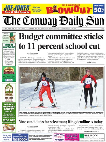 The Conway Daily Sun, Friday, March 4, 2011 by Daily Sun - issuu be0881f8735