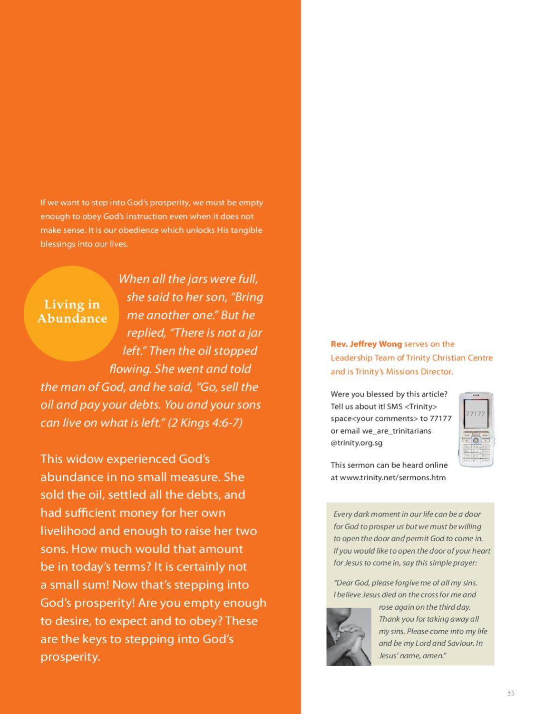 Trinitarian Magazine Issue 1/2009 by Trinity Christian Centre - issuu