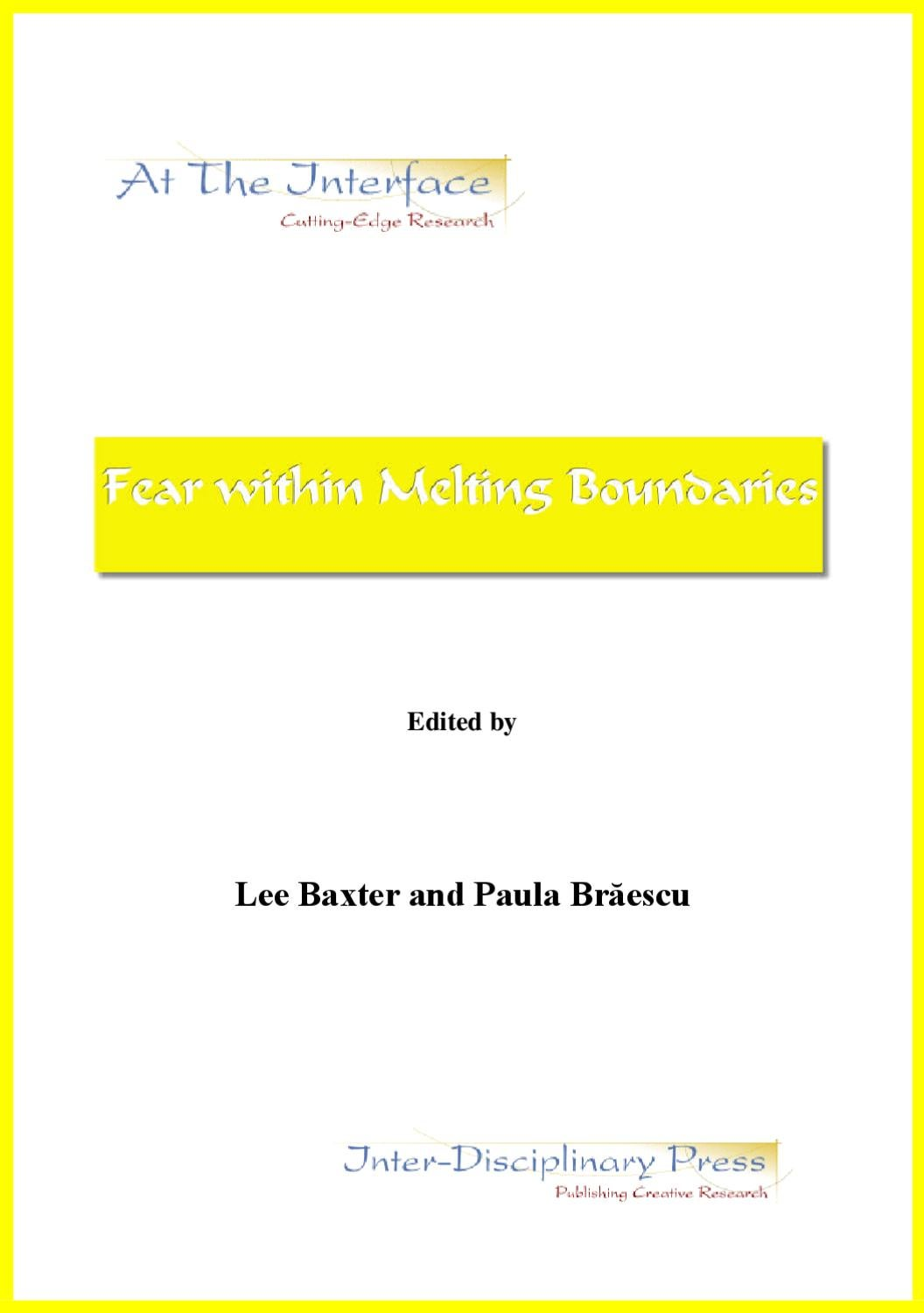 Fear Within Melting Boundaries By Carlos Tapia Issuu