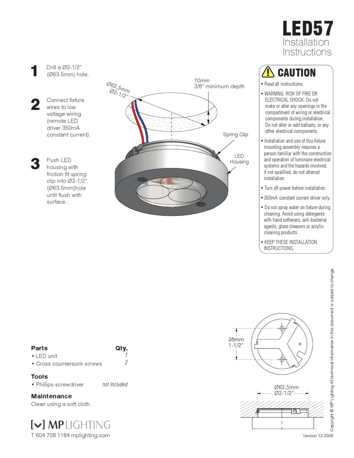 L57 Inst By Mp Lighting Issuu Led Driver Wiring Instructions