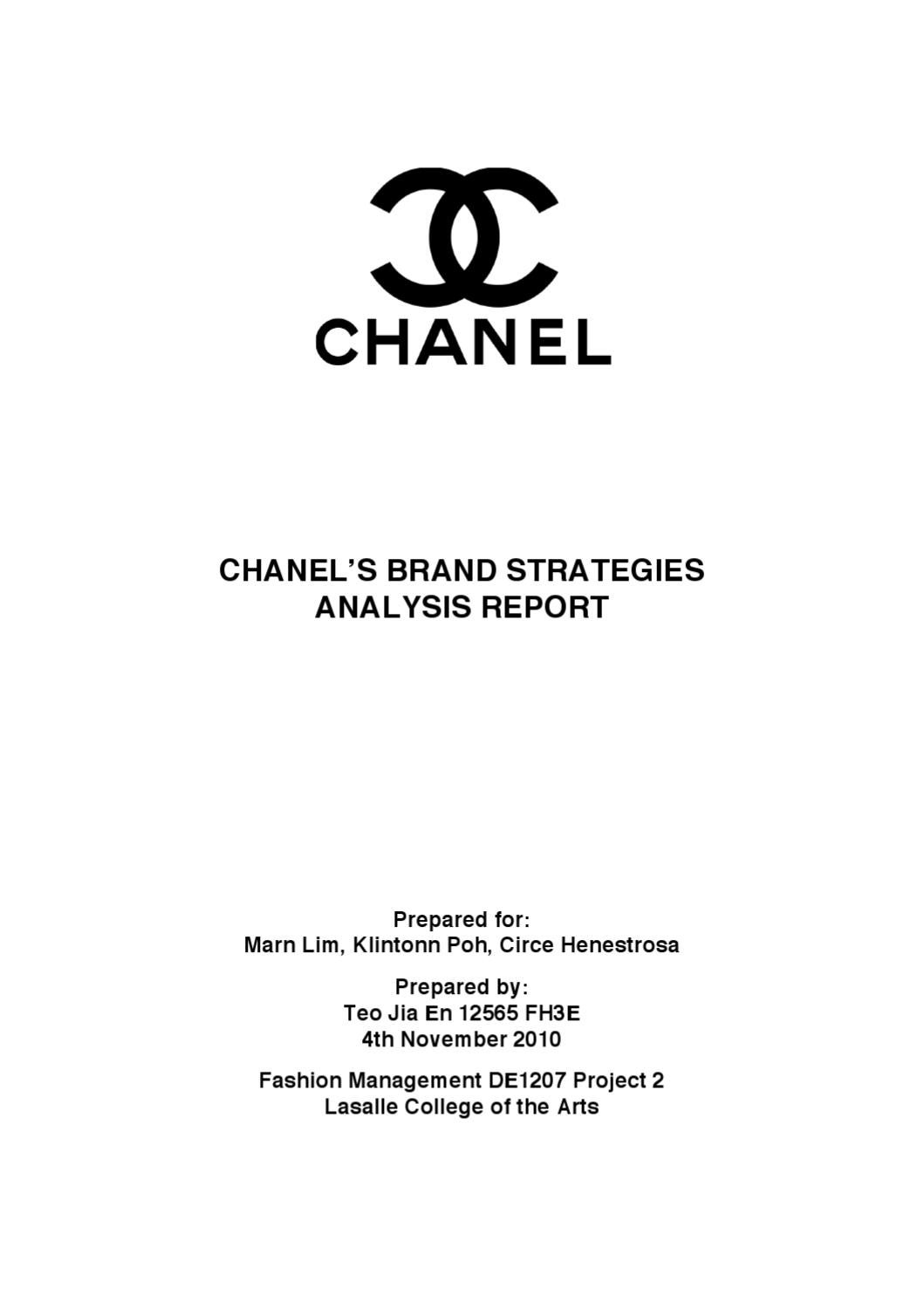 chanel brand strategies analysis report Hermes analysis in business marketing essay have adopted and created great brand strategies to play on global competition which has several brand analysis.